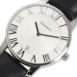 And Co Atlas Dome Z1800.11.10a21.a52a Menand039s Silver Dial From Japan [e1119]