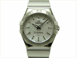 Omega Constellation Shell Dial 123.10.27.60.05.002 Stainless Ladies Watch[b1119]