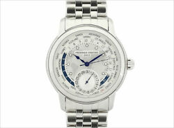 Frederique Constant World Timer Manufacture Fc-718wm4h6b Ss Menand039s Watch [b1119]