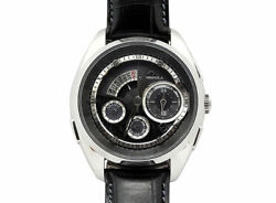 Campanola Bz0030-08e Black Dial Leather Stainless Men's Watch From Japan [b1119]