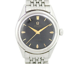 Omega Seamaster Mirror Dial 2802-4sc Cal.471 Black Ss Menand039s From Japan N1119