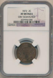 1872 Two Cent Piece Ngc Xf Details