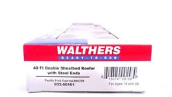Walthers Ho Pfe Fruit Express 40and039 Dbl Sheathed Reefer W Steel Ends 932-60151 New