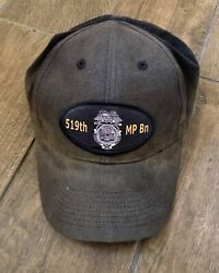 Vintage United States Army Military Police 519th Mp Bn Baseball Hat Cap
