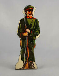 Marx Soldiers Of Fortune Russian Infantry Tin Litho Vintage Military Toy Figure
