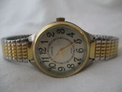 Carriage By Timex Watch Gold And Silver Two Tone Expansion Band Round Face Wr 30m