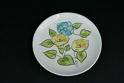 Tru-stone 4503 Morning Glory Hand Painted Saucer Plate Designed In Usa Japan