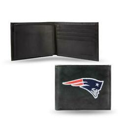 New England Patriots Wallet Embroidered Billfold Genuine Leather