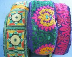 90 yard cotton thread embroidered border for sewing and craft product
