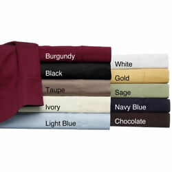 1000 Tc Egyptian Cotton 3 Pc Pinch Pleated Comforter Set Us King And Solid Colors