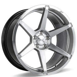 4ea 22 Staggered Ace Alloy Wheels Aff06 Silver With Machined Face Rimss45