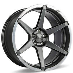 4ea 19 Staggered Ace Alloy Wheels Aff06 Titanium With Machined Lip Rimss45