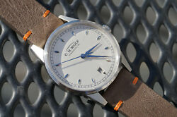 Glashutte C.h.wolf Mens Ladies Germany Vintage Style Automatic Watch Leather