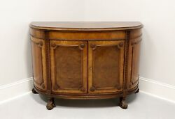 Robert W Irwin Co Inlaid Marquetry Demilune Buffet Cabinet With Paw Feet