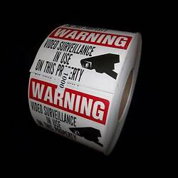 Lot Of Window Warning Stickers Signs For Home Waterproof Surveillance Decals
