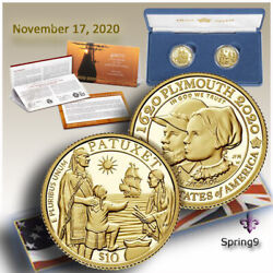 400th Anniversary Of The Mayflower Voyage Two-coin Gold Proof Set -coins Spring9