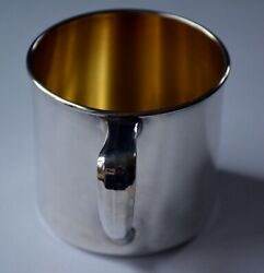 Vintage Community Silver-plate Unengraved Baby Cup In Original Packaging