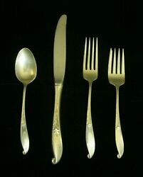 38-pc Wallace Rare Pattern Wishing Star Sterling Silver Dinner Flat Ware Set