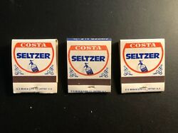 Old Vintage Costa Seltzer-newburgh, N.y. 3 .the Matchbooks Made In Usa