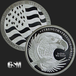 10 - 1 Oz .999 Silver Rounds - Gsm Silver Eagle Round - Uncirculated - In Stock