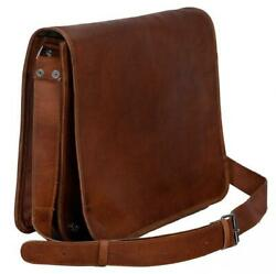 New Leather Vintage Messenger Shoulder Men Satchel Bag Laptop School Briefcase $33.24