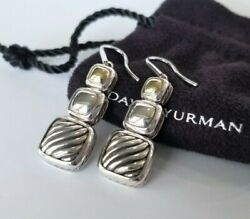 David Yurman RARE 18K Gold and Sterling Silver Chiclet Earrings Stunning $650 $475.00