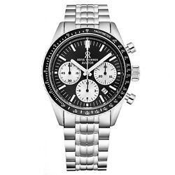 Revue Thommen 17000.6134 'aviator' Stainless Steel Chronograph Automatic Watch
