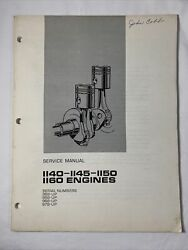 Caterpillar Service Manual - 1140-1145-1150-1160 Engines March 1973