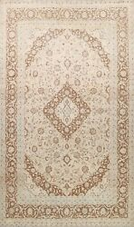 Vintage Floral Traditional Muted Area Rug Hand-knotted Oriental Dining Room 9x12