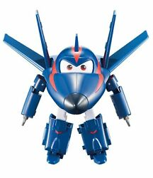"""Super Wings Transforming Agent Chase Toy Figure Plane Bot 5"""" Scale"""