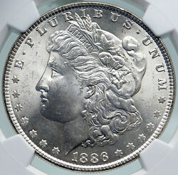 1886 United States Of America Silver Morgan Us Dollar Coin Eagle Ngc I87364