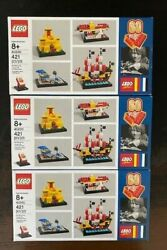 Lego 40290 - Lot Of 3 60 Years Of The Brick Exclusive - New In Sealed Box