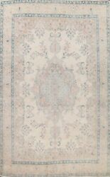Vintage Muted Hand-knotted Traditional Floral Large Area Rug Wool Oriental 10x13