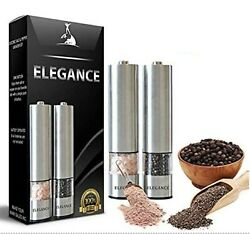 Electric Salt And Pepper Grinder Set | Battery Operated Stainless Steel Mill ...