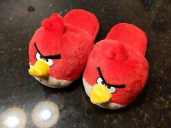 Angry Birds Red Bird House Slippers Shoes Size Kids L 4-5