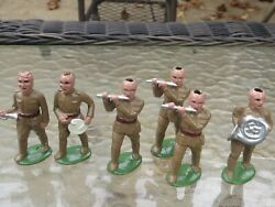 Barclay Maniol - Barclay Military Band Members-set Of 6 Repaints By Bob Hornung