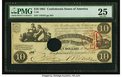 Trans-mississippi Stamp 10 1861 A Moderatly-circulated T-28 Note.