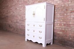Baker Furniture Milling Road French Provincial Louis Xv White Lacquered Dresser