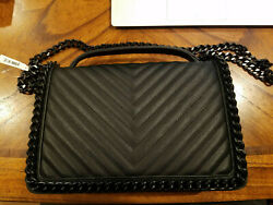 Aldo Greenwald Chain Link Handbag Purse Crossbody Women Ladies Girl Bag Black $99.99