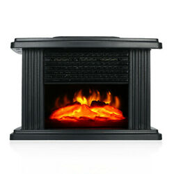 Portable Electric Fireplace Heater Space Log Flame Stove Quality Free Standing