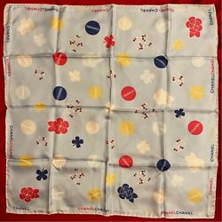 Used No Box Very Rare Petit Scarf Silk Camellia Pattern For Woman