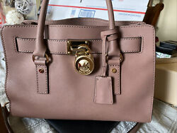 Michael Kors Women Leather Messenger Crossbody Handbag Satchel Purse Bag Rose $65.00