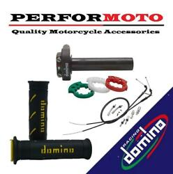 Domino Xm2 Quick Action Throttle Kit With Super Soft Grips For Royal Alloy Bikes