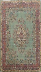Floral Semi Antique Traditional Hand-knotted Area Rug Wool Oriental Carpet 9x13