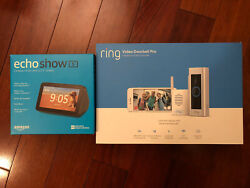 New Ring Video Doorbell Pro, Chime Bundle And Echo Show 5 Charcoal Orig. 390