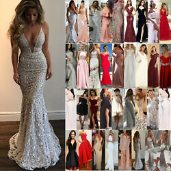 Women Wedding Evening Cocktail Ball Gown Formal Party Prom Bridesmaid Dress HOT $21.39