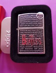 Beatles Collectible Zippo Lighter Songand039andnbsp Brand New In Box Mint Conditionandnbsp