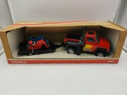 A Vintage Tonka Toys 1980 Pick Up And Bike Trailer Boxed Ex Shop Stock Superb
