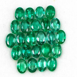 20cts Natural Top Luster Green Emerald Zambia 6x4mm Size Lot Loose Gemstone