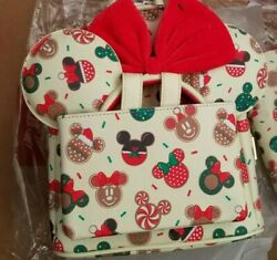 Loungefly Disney Mickey Minnie Mouse Cookie Cutter Backpack Ears Christmas